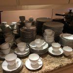 107 Pieces Thomas Haviland White China w/Silver Trim $275 OBO