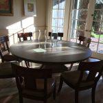 9 Custom Chairs $1350 OBO & Glass Hurricane Shades $20 OBO