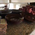 5 Brown Serving Bowls