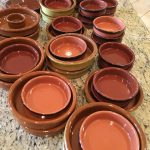 About 33 Pieces Terra Cotta Dishes $75 OBO