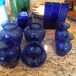 10 Pieces Blue Glass Vases $50 OBO