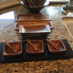 16 Pieces Acacia Wood or Monkey Pod Servers $75