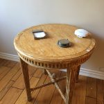 Antique Faux Marble Painted Side Table $275