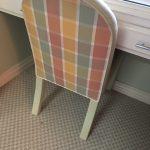 Plaid Side Chair (Matches Round Ottoman) $35