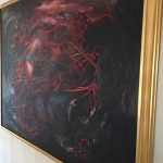 Victor Hugo Zayas 'Abstract' Large Oil w/Booklet$4000