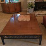 Pair of Coffee Tables Iron & Stone $350 Ea.